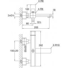 STEINBERG - Nástěnná vanová baterie bez příslušenství, chrom (235 1100)