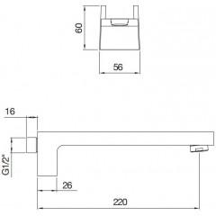 STEINBERG - Umyvadlová/vanová hubice 220 mm (240 2300)