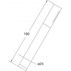 STEINBERG - Ruční kovová sprcha (099 9655)