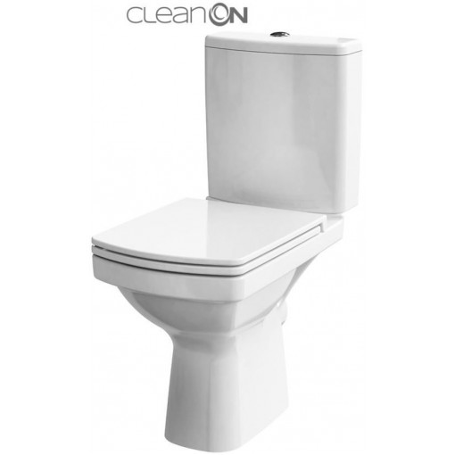 CERSANIT - WC KOMBI 606 EASY NEW CLEANON 011 3/5 BEZ SEDÁTKA BOX (K102-030)