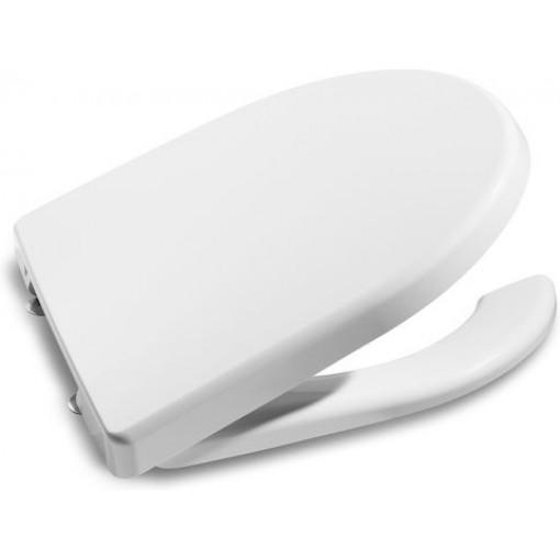 ROCA - Klozetové sedátko s mezerou v přední části, s poklopem a nerezovými úchyty (A801230004)