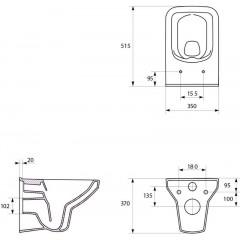 JOMOTech modul pro zazdění LIGHT bez desky + WC CERSANIT CLEANON COMO + SEDÁTKO (164-14600479-00 CO1)