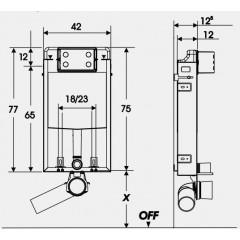JOMOTech modul pro zazdění LIGHT bez desky + WC LAUFEN PRO + SEDÁTKO (164-14600479-00 LP3)