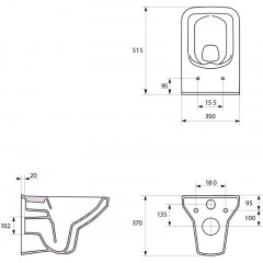 JOMO DUO modul pro závěsné WC bez desky + WC CERSANIT CLEANON COMO + SEDÁTKO (174-91100700-00 CO1)
