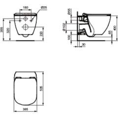 JOMO - SET JOMO Duofix modul pro závěsné WC + tlačítko + montážní sada + sedátko + WC TESI (174-91100900-00 TE3)