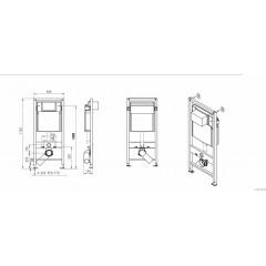 JOMO - SET JOMO Duofix modul pro závěsné WC + tlačítko + montážní sada + sedátko + WC CERSANIT CLEANON CARINA (174-91100900-00 CA3)