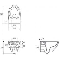 JOMO DUO modul pro závěsné WC s bílou deskou + WC CERSANIT CLEANON MODUO + SEDÁTKO (174-91100900-00 MO1)