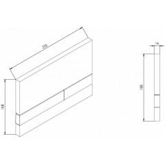 JOMO DUO modul pro závěsné WC s bílou deskou + WC Ideal Standard Tesi se sedátkem RIMLESS (174-91100900-00 TE2)