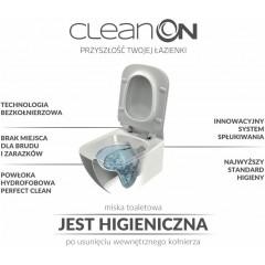 CERSANIT - SET ZÁVĚSNÁ WC MÍSA CLEANON + PNEU NÁDRŽKA + OVLADAČ + WC SEDÁTKO (K701-267)