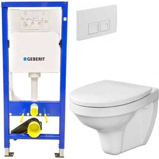 AKCE/SET - SET Duofix Sada pro závěsné WC 458.103.00.1 + tlačítko DELTA50 bílé + WC CERSANIT DELFI + SEDÁTKO (458.103.00.1 50BI DE1)