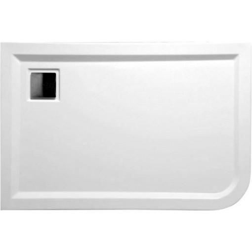 POLYSAN - LUNETA sprchová vanička akrylátová, obdélník 100x80x4cm, levá, bílá (51511)