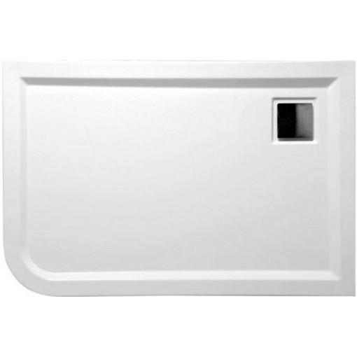 POLYSAN - LUNETA sprchová vanička akrylátová, obdélník 100x80x4cm, pravá, bílá (52511)