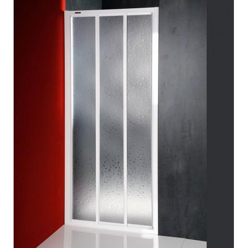 AQUALINE - DTR sprchové dveře posuvné 800mm, bílý profil, polystyren výplň (DTR-C-80)