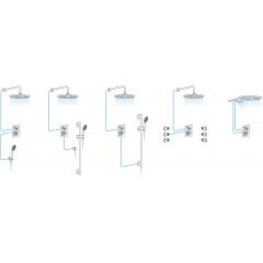 SAPHO - LUKA podomítková sprchová baterie, 2 výstupy, chrom (LK42)