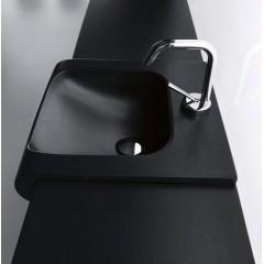 KERASAN - INKA odkladná keramická deska 12x35,5cm, černá mat (341531)