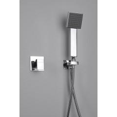 SAPHO - Ruční sprcha, 245mm, hranatá, ABS/chrom (1204-09)