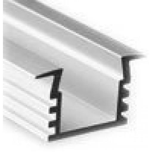 Sapho Led - LED zápustný profil 22x12mm, eloxovaný hliník, 1m (KL3776-1)
