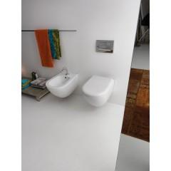 KERASAN - AQUATECH závěsná WC mísa, 36,5x55cm, bílá (371501)