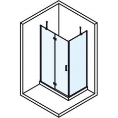 POLYSAN - VITRA LINE zástěna, obdélník 1100x700mm, levá, čiré sklo (BN7315L)