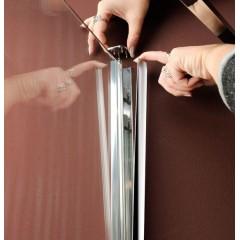 POLYSAN - VITRA LINE zástěna, obdélník, zaobl.roh1000x800mm,levá,ovál.panty,čiré sklo (BN2218L)