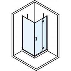 POLYSAN - VITRA LINE zástěna, čtverec 1000x1000mm, pravá, čiré sklo (BN5215R)