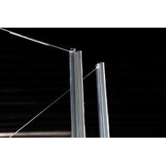 POLYSAN - VITRA LINE třístěnová zástěna bez držáků osušky 1000x800mm, levá, čiré sklo (BN6315L)