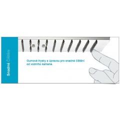 SAPHO - SLIM hlavová sprcha, obdélník, 400x2x250mm, nerez (MS581)