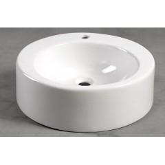 AQUALINE - BROOK keramické umyvadlo průměr 50 cm, na desku, bílá (FS16A)