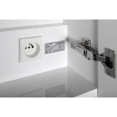 SAPHO - TOBI galerka s LED osvětlením, 50x73x17cm, bezdotykový senzor, bílá (TB051)