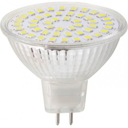Sapho Led - LED bodová žárovka 3,7W, MR16, 12V, studená bílá, 340lm (LDP340)