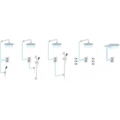 SAPHO - SPY podomítková sprchová baterie, 2 výstupy, bílá mat (PY42/14)