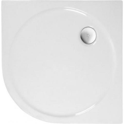 POLYSAN - SONATA sprchová vanička akrylátová, čtvrtkruh 90x90cm, R500, bílá (57111)