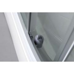 AQUALINE - AIGO čtvrtkruhový sprchový box 900x900x2060 mm, bílý profil, čiré sklo (YB93)