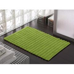 AQUALINE - BOMBAY koupelnová předložka, 50x80 cm, 100% bavlna, protiskluz, zelená (BO508004)