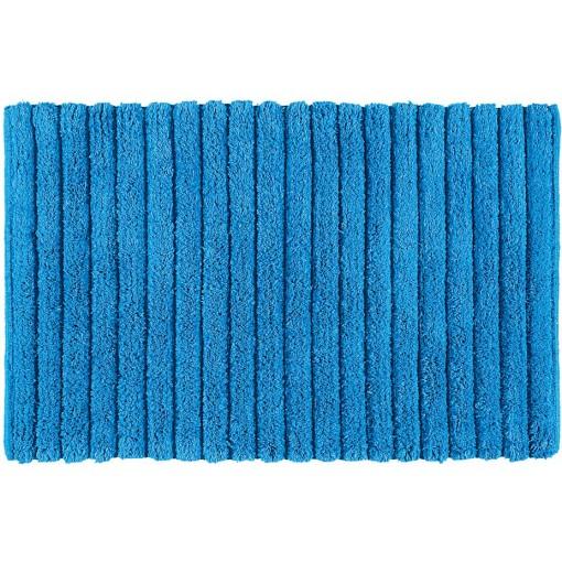 AQUALINE - BOMBAY koupelnová předložka, 50x80 cm, 100% bavlna, protiskluz, modrá (BO508011)