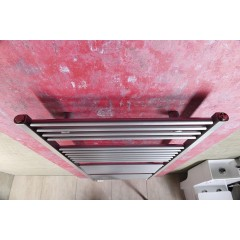 AQUALINE - DIRECT otopné těleso s bočním připojením 450x970 mm, 415 W, metalická stříbrná (ILS94)