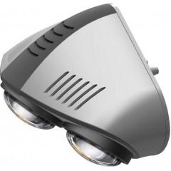 SAPHO - Nástěnný koupelnový infrazářič, 735 W, stříbrná (TC636)