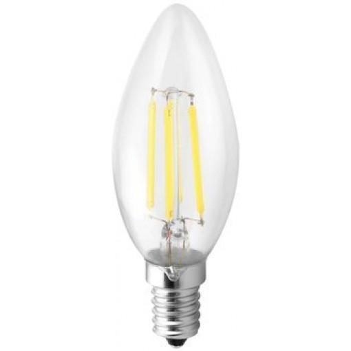 SAPHO - LED žárovka filament 4W, E14, 230V, teplá bílá, 360Lm (LDF168)