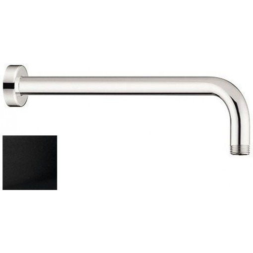 SAPHO - Sprchové ramínko kulaté, 400mm, černá mat (BR515)