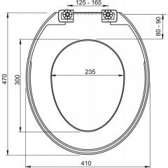 ALCAPLAST - A 3550 WC sedátko bílé, (T 3550) A3550 A3550 (A3550)