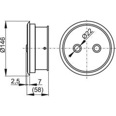 Alcaplast Duální oddálené elektronické splachování ruční, kov, zabudování: do zdi (MEO10)