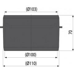 Alcaplast Hrdlo pro napojení na spodní odpad DN 110 AVZ-P001 (AVZ-P001)
