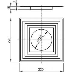Alcaplast Límec 2. úrovně izolace pr.105 (APV0003)