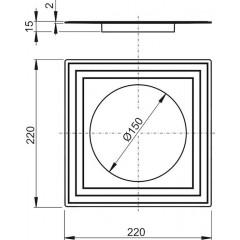 Alcaplast Límec 2. úrovně izolace ?150 (APV0005)