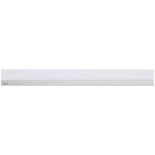 ALCAPLAST MINERAL POSH - Rošt pro liniový podlahový žlab (syntetický kámen bílý  nerez mat) MP1200-1150 (MP1200-1150)