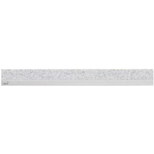 ALCAPLAST MINERAL POSH - Rošt pro liniový podlahový žlab (syntetický kámen Granit  nerez mat) MP1207-850 (MP1207-850)