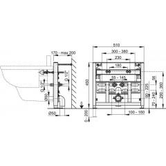 Montážní rám pro bidet - stavební výška 0,45 m ALCAPLAST A105/450 (A105/450)