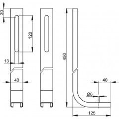 Alcaplast Nohy k modulu A100 (M90)