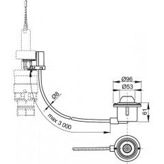 ALCAPLAST Oddálené pneumatické splachování nožní do podlahy kov MPO12 (MPO12)