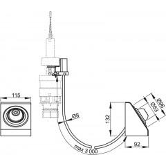 Alcaplast Oddálené pneumatické splachování nožní na zeď kov (MPO13)